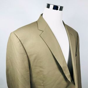 Jos A Bank Mens 50L Long Sport Coat Beige Wool